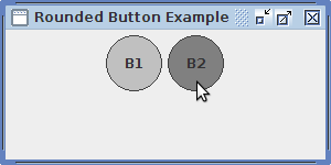 [Swing] إنشاء زر دائري make Round JButtons Output