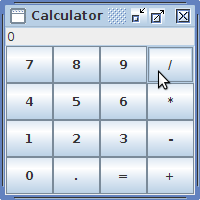 A simple calculator: calculator « tiny application « java.